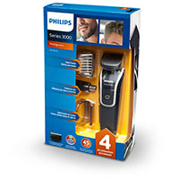 PHILIPS Multigroom series 3000 Kit multifunzione impermeabile VISO